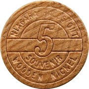 Wooden Nickel - Wooden Nickel - Niagara Falls, Ontario – revers