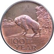 Medal - Manitoba Centennial – avers