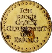 New Year Lucky Token (Glückskatze) – revers