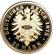 20 Mark - Albert (Saxony; Restrike) – revers