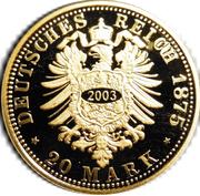 20 Mark - Heinrich XXII (Reuß-Greiz; Restrike) – revers