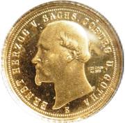 20 Mark - Ernst Herzog von Sachsen Coburg und Gotha (Restrike) – avers