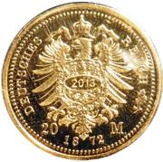 20 Mark - Ernst Herzog von Sachsen Coburg und Gotha (Restrike) – revers