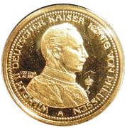 10 Mark - Wilhelm II Deutscher Kaiser König von Preußen (Restrike) – avers