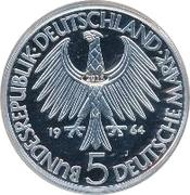 5 Deutsche Mark (Gottlieb Fichte) – avers