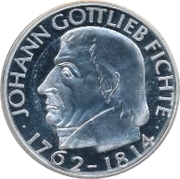 5 Deutsche Mark (Gottlieb Fichte) – revers