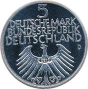 5 Deutsche Mark (Germanic Museum) – avers