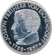 5 Deutsche Mark (Joseph von Eichendorff) – revers
