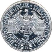 5 Deutsche Mark (Markgraf von Baden) – avers