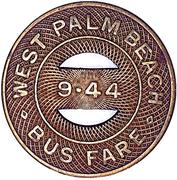 Bus Fare - Florida Cities Bus Company (West Palm Beach, Florida) – revers