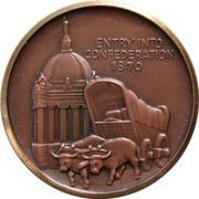 Medal - Manitoba Centennial – revers