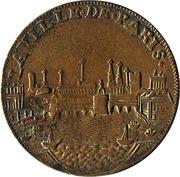 Jeton Paris Administration Municipale Louis XV – revers