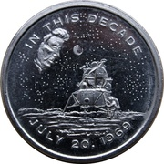 Medal - Apollo 11 Mission (JFK's Dream Fulfilled) – avers