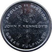 Medal - Apollo 11 Mission (JFK's Dream Fulfilled) – revers
