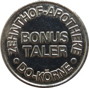Bonus Taler - Körnebach Apotheke & Zehnthof Apotheke (Dortmund) – revers