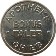 Bonus Taler - Grieb Apotheke – avers