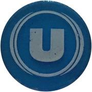 Jeton de chariot translucide bleu U – avers