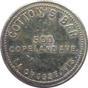 25 Cents - Cotton's Bar (La Crosse, Wisconsin) – avers