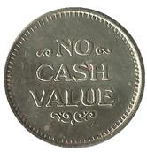 Token - No Cash Value (Clown; 23 mm) – revers