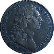 Jeton Louis XV (Manufacture d'Elbeuf) – avers