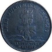 Jeton Louis XV (Manufacture d'Elbeuf) – revers