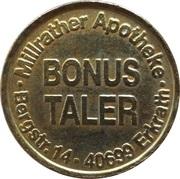 Bonus Taler - Millrather Apotheke (Erkrath) – revers
