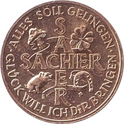 New Year Lucky Token - Sacher Hotel – revers