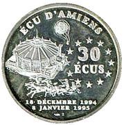 30 écus Amiens - Jules Verne – revers