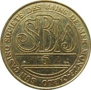 5 Francs - Casino de Monte Carlo (SBM) – revers