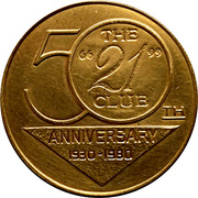 Spinner Token - The 21 Club 50th anniversary – avers