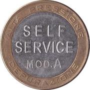 Jeton de lavage automobile - Mix Italy (Self Service mod.A) – revers