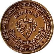 50 Dollars - Jobe Rose Fine Jewelers (Birmingham,  Alabama) – revers