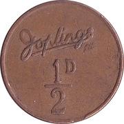 ½ Penny - Joplings Ltd. – revers