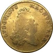 Jeton Louis XIV - Intemerata Manus – avers