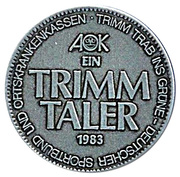 1 Trimm Taler – revers