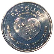 P.S. Dollar -  Parry Sound, Ontario 1982 – revers