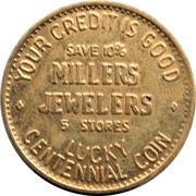 Lucky Coin - Millers Jewelers (BC Centennial) – avers