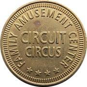 Token - Circuit Circus (Family Amusement Center) – revers