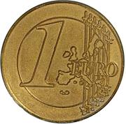 Jeton - 1 Euro – revers