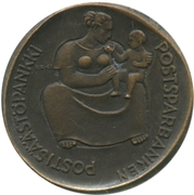 Token - 75th anniversary of the savings Bank at the post office – avers
