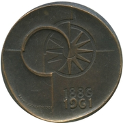 Token - 75th anniversary of the savings Bank at the post office – revers