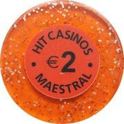 2 Euro - Casino Hit Maestral (Sveti Stefan Budva) – avers