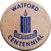 Wooden Nickel - Watford Centennial – avers