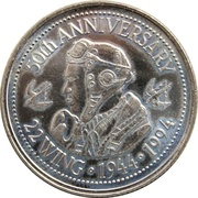 2 Dollars - North Bay, Ontario – revers