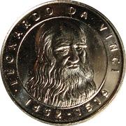 Token - I Grandi Protagonisti del Millennio (Leonardo Da Vinci) – avers