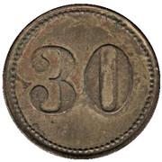 30 Pfennig (Wert-Marke) – revers