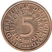 Token - 40 Years of 5 Mark – avers