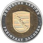 Token - Deutsche Länder Freistaat Sachsen – avers