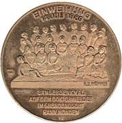 Token - 150 Years Mitteldeutscher Säangerbund – revers