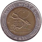 Jeton de lavage automobile - Mini Motel (Asti) – revers